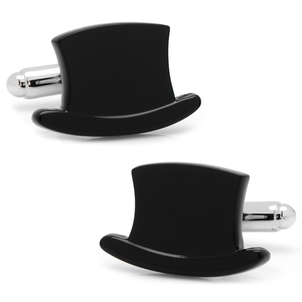 Black Top Hat Cufflinks