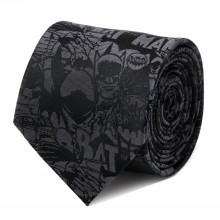 Batman Comic Black Tie