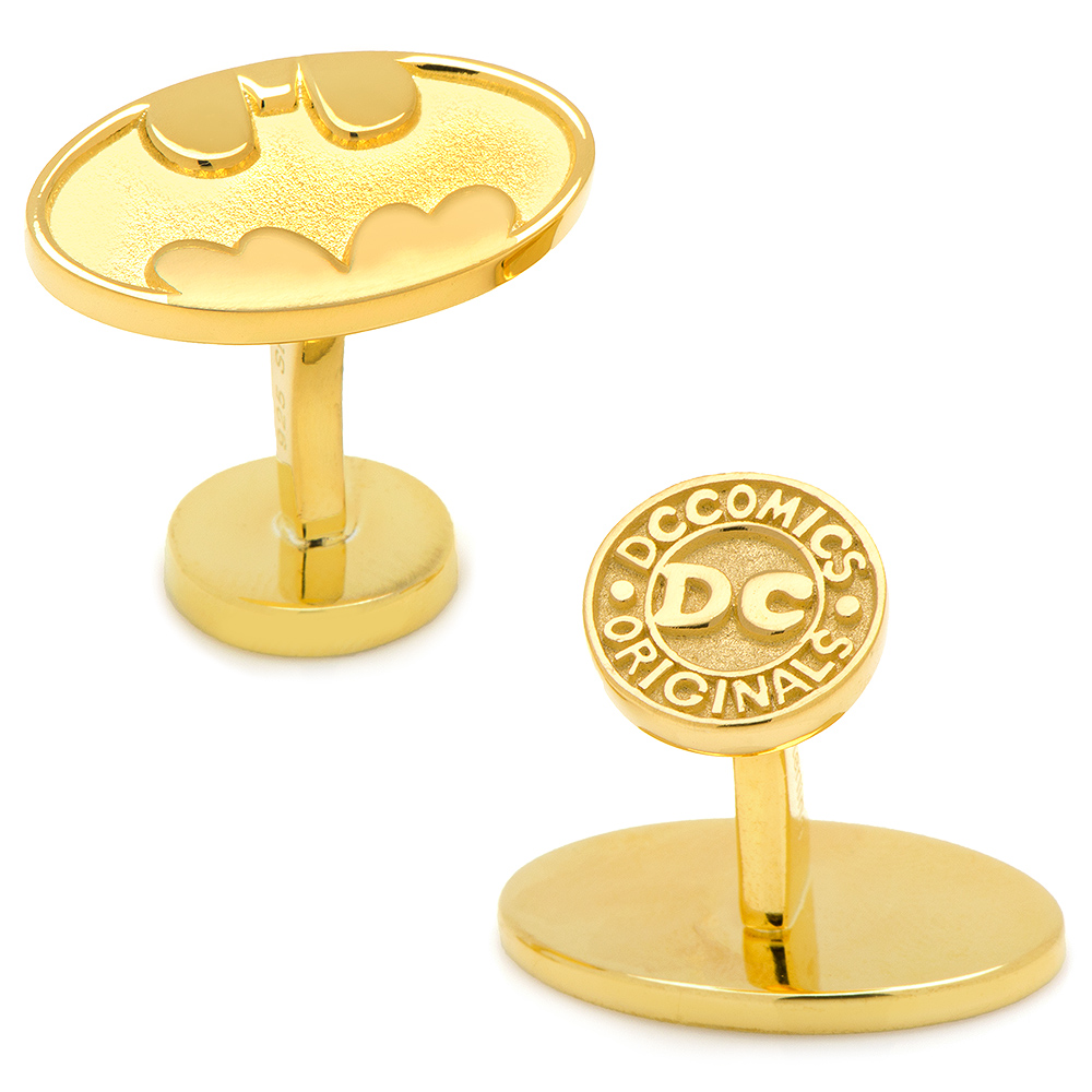 Gold Plated Sterling Batman Cufflinks