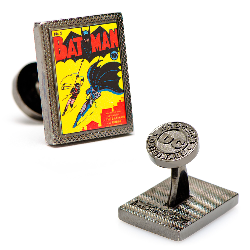 Batman First Issue Comic Book Cover Cufflinks