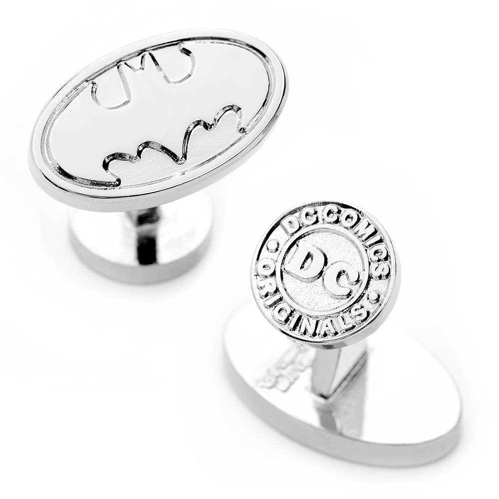Silver Batman Logo Cufflinks