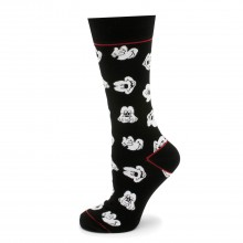 Mickey Mouse Expressions Black Socks
