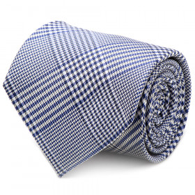 Blue Glen Plaid Silk Tie