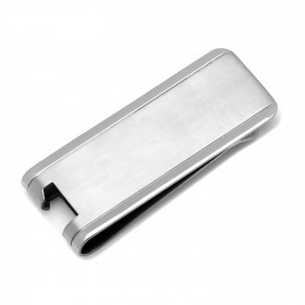 Titanium Engravable Bottle Opener Money Clip
