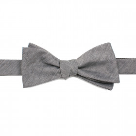 Gray Wool Bow Tie