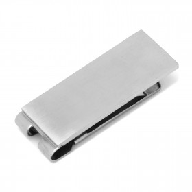 Stainless Steel Engravable Brushed Money Clip