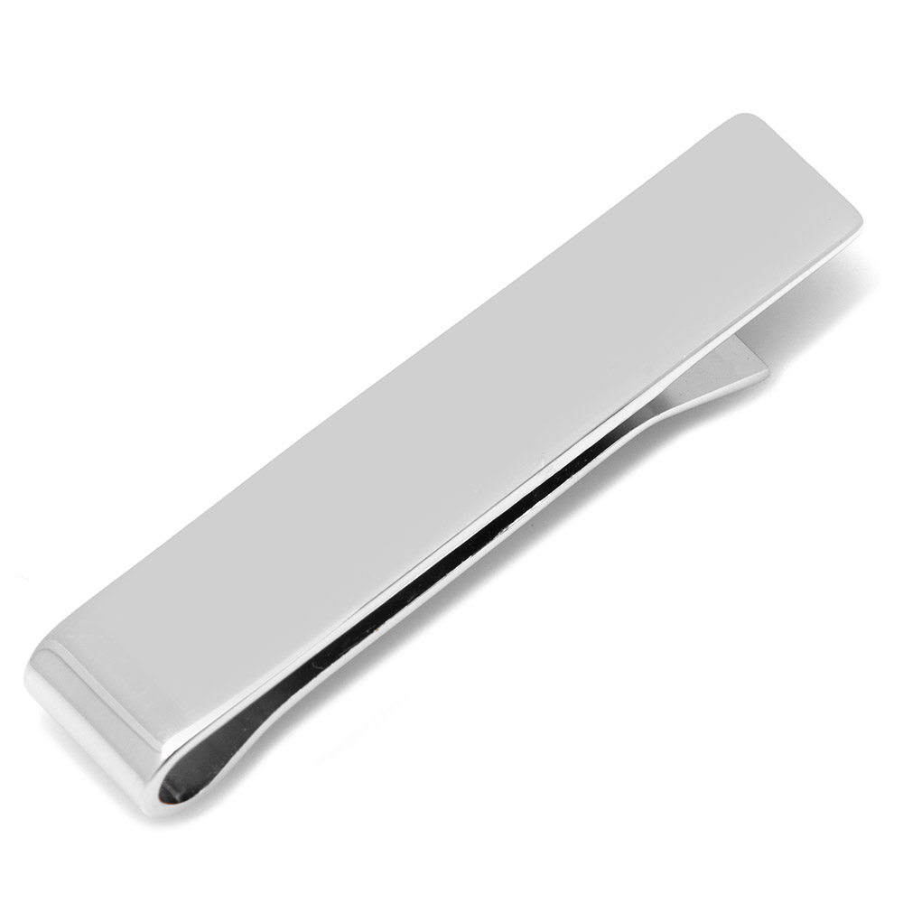 Sterling Silver Short Engravable Tie Bar