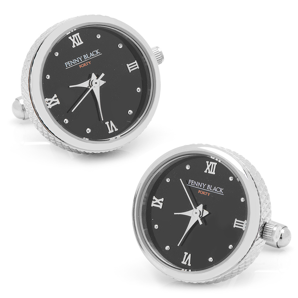 Stainless Steel Functional Watch Cufflinks