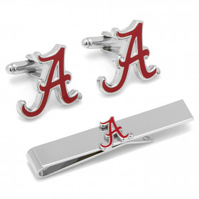 Alabama Crimson Tide Cufflinks and Tie Bar Gift Set