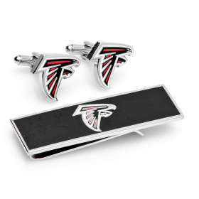 Atlanta Falcons Cufflinks and Money Clip Gift Set