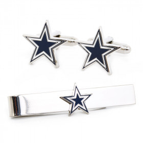 Dallas Cowboys Cufflinks and Tie Bar Gift Set