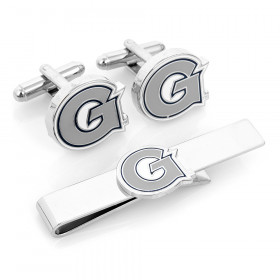 Georgetown University Hoyas Cufflinks and Tie Bar Gift Set