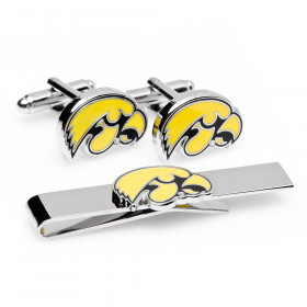 University of Iowa Hawkeyes Cufflinks and Tie Bar Gift Set
