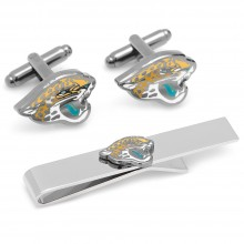 Jacksonville Jaguars Cufflinks and Tie Bar Gift Set