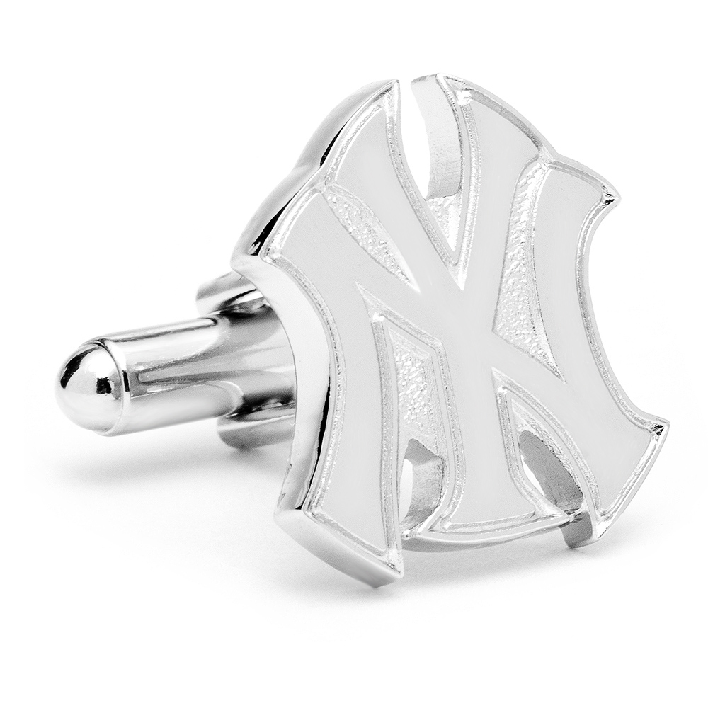 Silver New York Yankees Logo Cufflinks