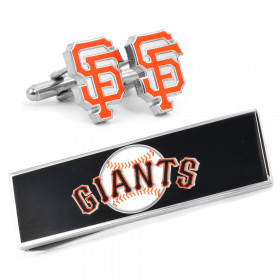 San Francisco Giants Cufflinks and Money Clip Gift Set