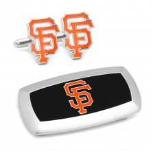 San Francisco Giants Cufflinks and Cushion Money Clip Set