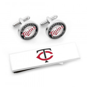 Minnesota Twins Cufflinks and Money Clip Gift Set