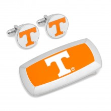 Tennessee Volunteers Cufflinks and Cushion Money Clip Set