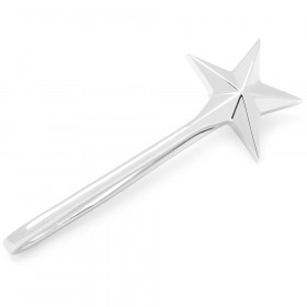 Sterling Star Tie Bar