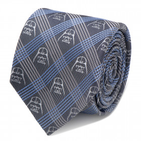 Darth Vader Blue Plaid Tie