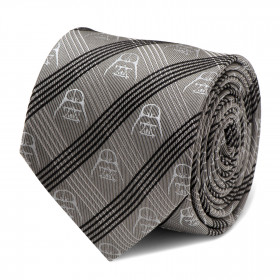 Darth Vader Gray Plaid Tie