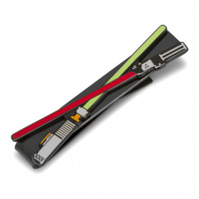 Lightsaber Battle Black Tie Bar