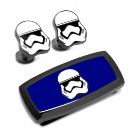 Stormtrooper Cufflinks and Cushion Money Clip Gift Set