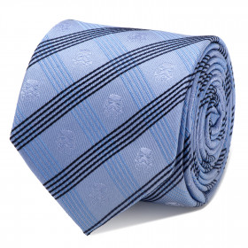 Stormtrooper Blue Plaid Tie