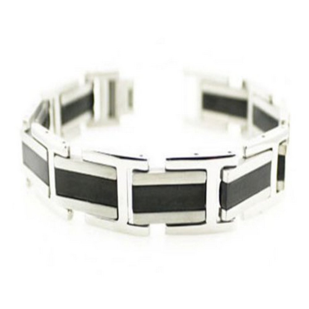 Stainless steel bracelet for men in brush finish| 15mm width