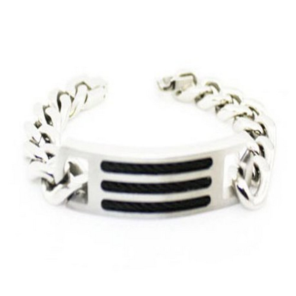 Stainless steel bracelet for men in high polish | 14.5mm width