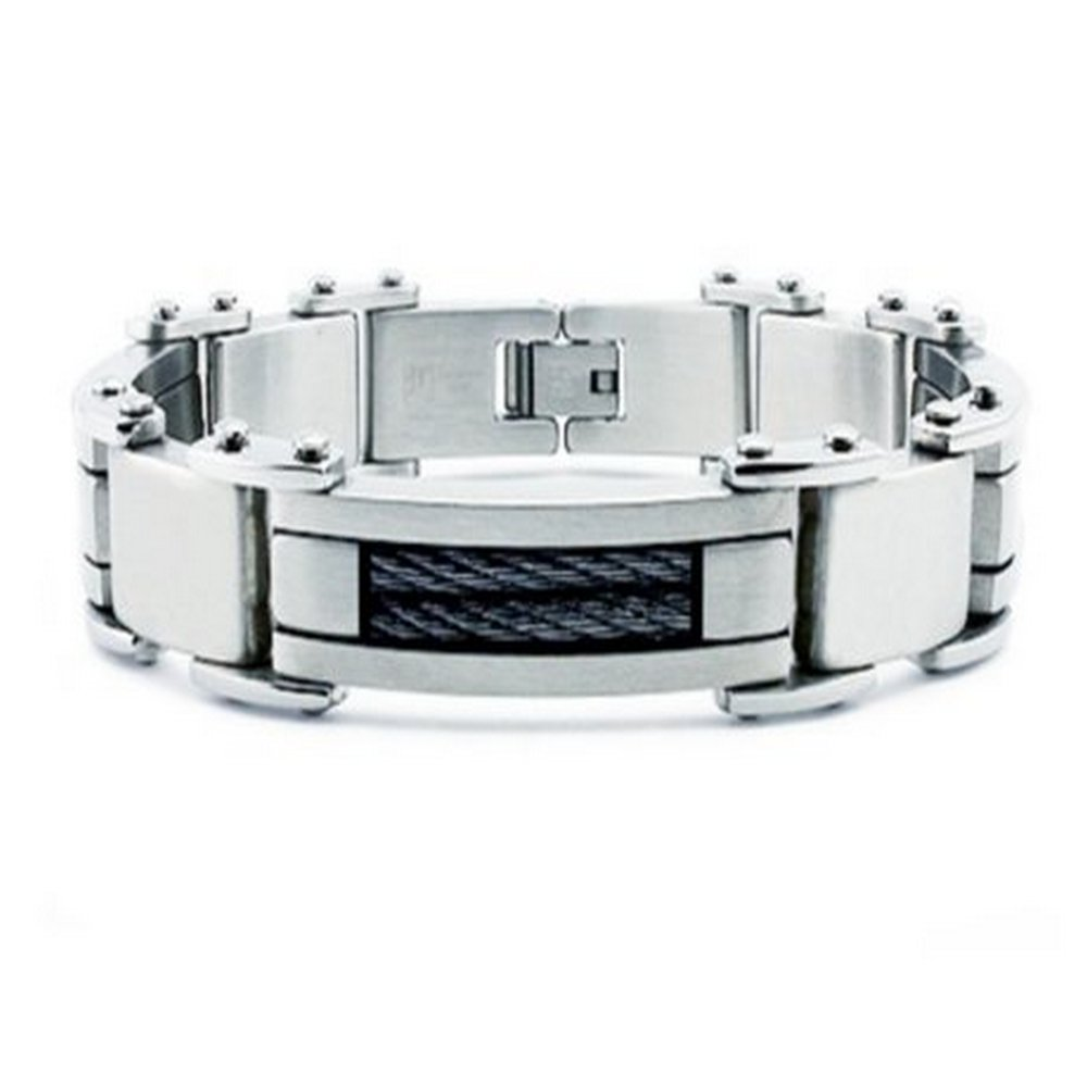 Stainless steel bracelet for men in brush finish| 13mm width