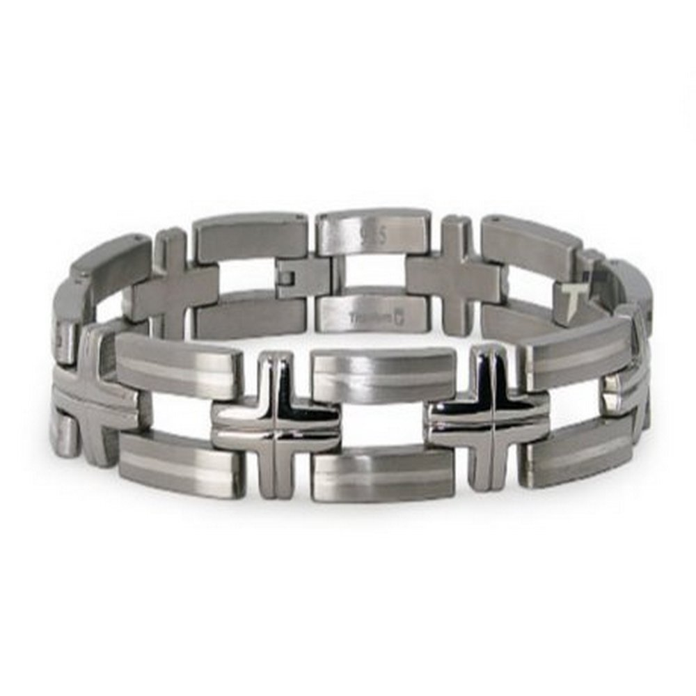 Titanium large link bracelet for men| 12.5mm width