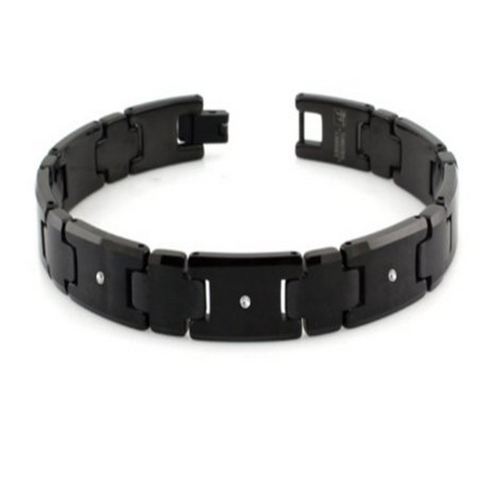 pin energy magnetic heavy men new stone tungsten carbide bracelet