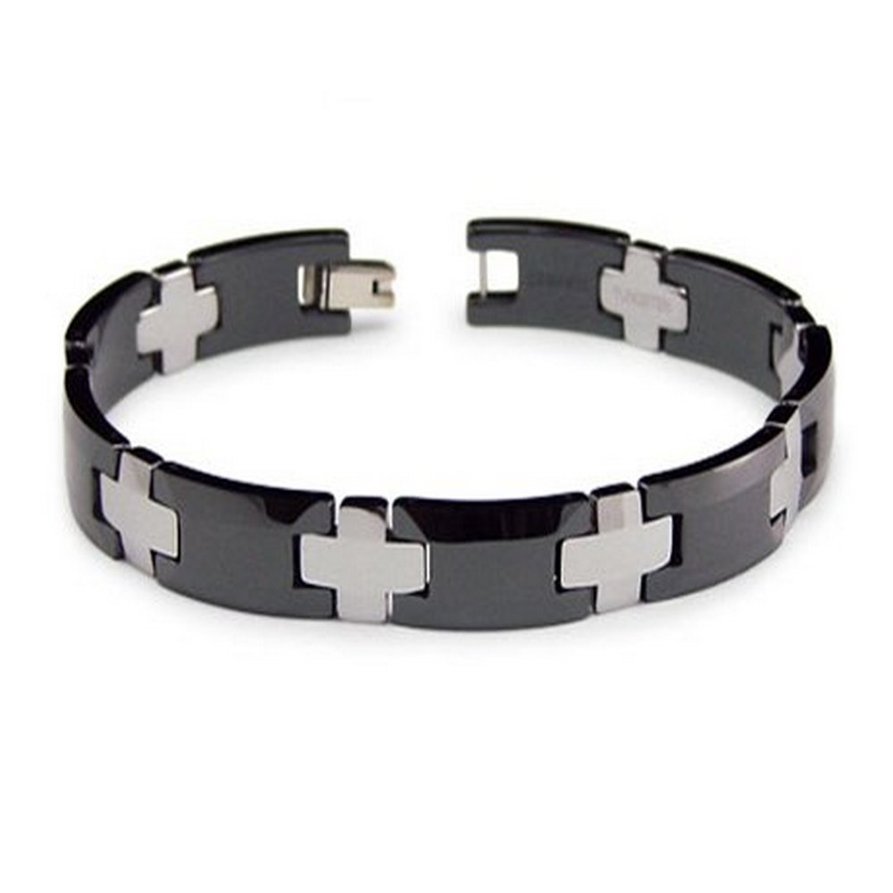 bracelet s magnetic bracelets inlay tungsten carbide fiber en carbon men