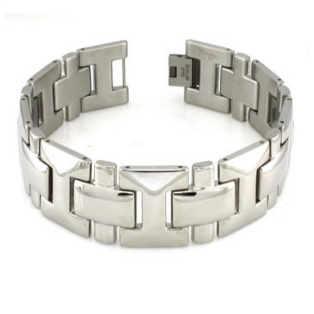 Stainless Steel Bracelet for Men With High Polished Finish | 16mm Wide