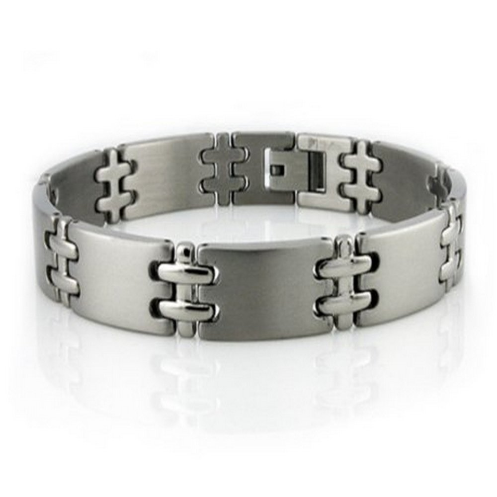 Titanium Bracelet Polished Double Cross Links