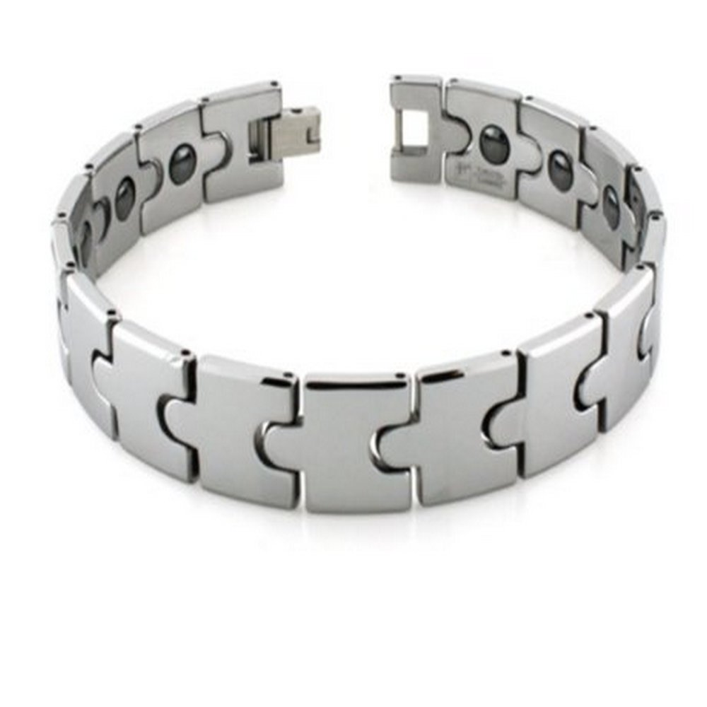 Mens Tungsten Bracelet Polished | 13mm Wide