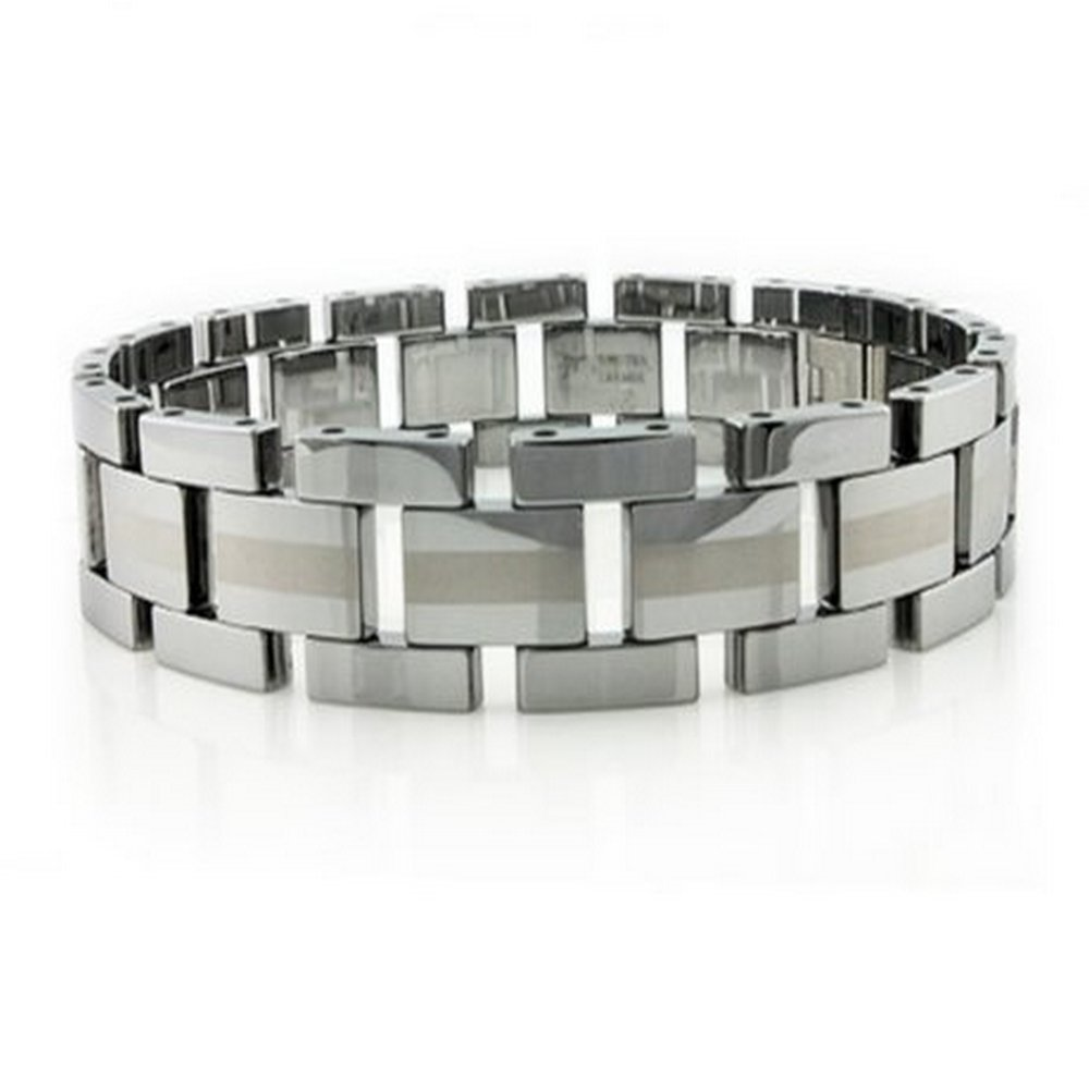 Tungsten Bracelet Polished Matte Center