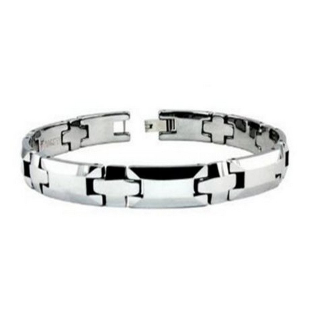 Mens Tungsten Bracelet High Polish Finish