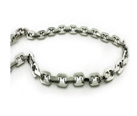 Men's stainless steel necklace| 9.5mm width