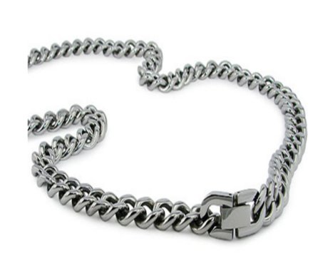 Stainless steel high polished necklace for men| 10mm width