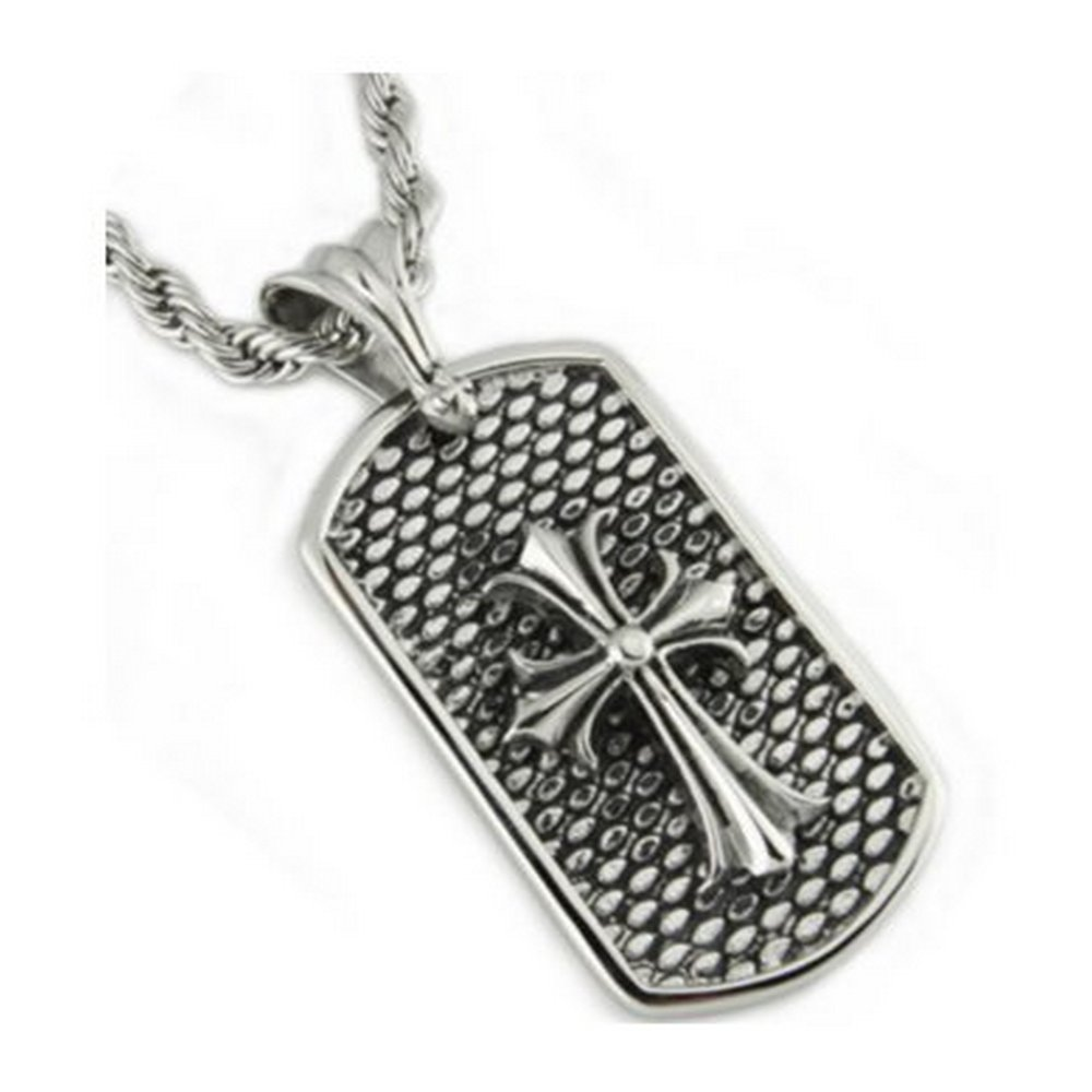 Polished stainless steel pendant  for men| 24mm width