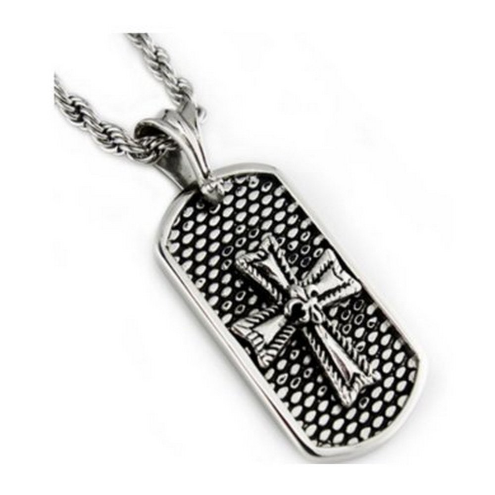 Stainless steel oxidized pendant for men| 25.5mm width