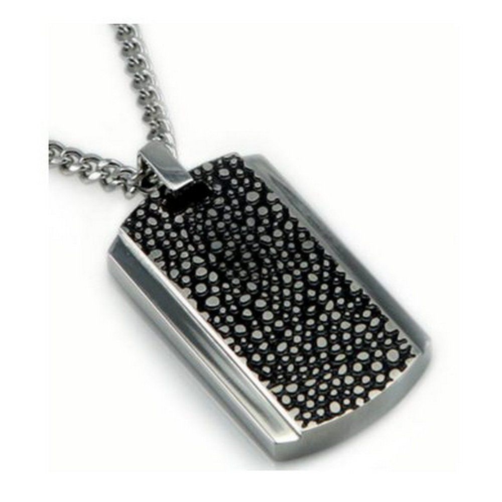 Men's stainless steel brush finish pendant| 24mm width