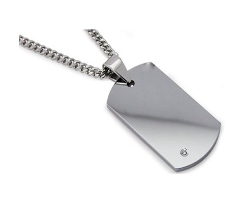 Men's tungsten carbide pendant| 23.5mm width