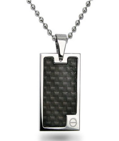 Pendants for Men High with Black Carbon Fiber Inlay 22