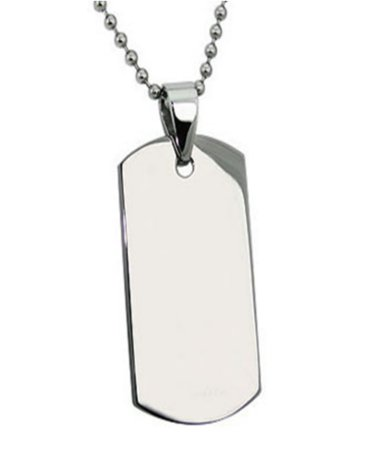 Mens Stainless Steel Pendants High polish Finish 22