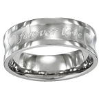 Stainless Steel Wedding Ring with