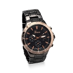Gunmetal and Rose Tone Men's Fashion Watch